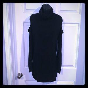 Chic turtleneck sweater dress